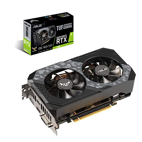 Graphics Card|ASUS|NVIDIA GeForce RTX 2060|6 GB|192 bit|PCIE 3.0 16x|GDDR6|Memory 14000 MHz|GPU 1365 MHz|Dual Slot Fansink|1xDVI|2xHDMI|1xDisplayPort|TUF-RTX2060-O6G-GAMING