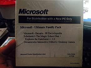 Microsoft Ultimate Family Pack CD ROM - Encarta 98 Encyclopedia, The Magic School Bus, Explores the Rainforest, Dreamworks Interactive Dilbert's, Desktop Games