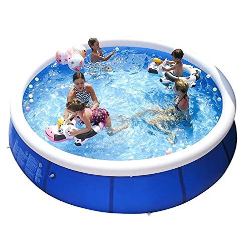 ZHANGLE Piscina Inflable Familiar de 7.8 x 2 pies sobre el Suelo para niños y Adultos, con Juguetes acuáticos para niños y Bomba eléctrica Piscinas portátiles fáciles de configurar
