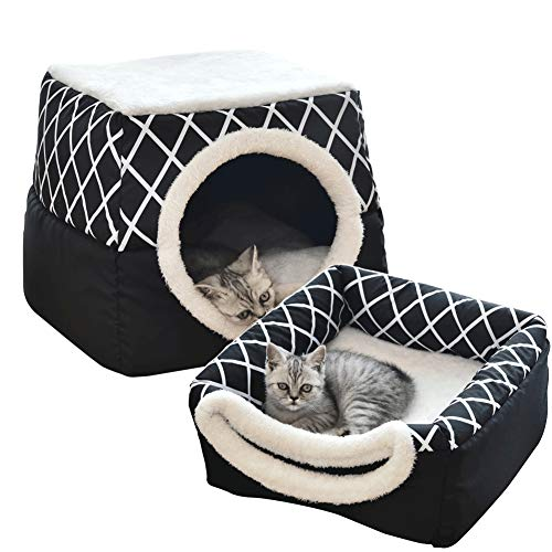 PIG-GIRL Pet Beds,Pet Indoor Doggy House Cat House Portable Pet House Dog Bed Cat Cave Tent by Best Pet Supplies,Blue,L