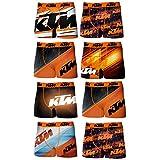 KTM T377-1-L Set 8pcs Boxers KTM-92% poliéster 8% Elastano, Pack De 08 T377/1, L para Hombre