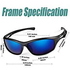 Duduma Polarised Sports Mens Sunglasses for Ski Driving Golf Running Cycling Tr90 Superlight Frame Design for Mens and Womens (black matte frame with blue #5