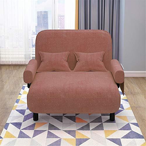 QiHaoHeji Cama Plegable portátil Convertible sofá Cama Plegable Silla del Brazo Ajustable Diseño Almacenamiento fácil Ahorro de Espacio for Interiores Jardín (Color : Gris, Size : 192x75cm)