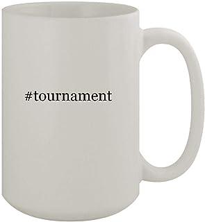 #tournament - 15oz Ceramic White Coffee Mug, White