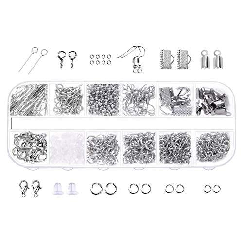 Katigan 845 Piezas de Accesorios de Joyas Material de Collar de Pulsera de DIY Suministros para Hacer Joyas Pendiente Gancho Broche de Langosta