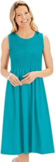 Flattering Empire Waist Solid Color Smocked Knit Dress - Cute Summer Outfit for Any Occasion