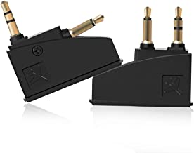 Lenink 2 Pack Generic Airline Airplane Flight Headphone Adapter Converter Compatible with Bose QC2 QC3 QC15 QC20 QC25 AE2 Headphones,Aviation Plugs to 3.5mm Jack
