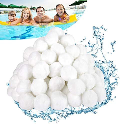 Vtarcza Filterbälle 700g Filter Balls ersetzen 25 kg Filtersand, Pool Filterbälle für Schwimmbad, Filterpumpe, Aquarium Sandfilter, Tolle Filterwirkung, Umweltfreundlicher Ersatz, Langlebig
