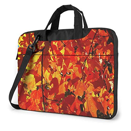 Laptop Tote Bag, Fall Leaves Functional Laptop Carrying Bag with Handle Fits 13-15.6in Notebook 14 in