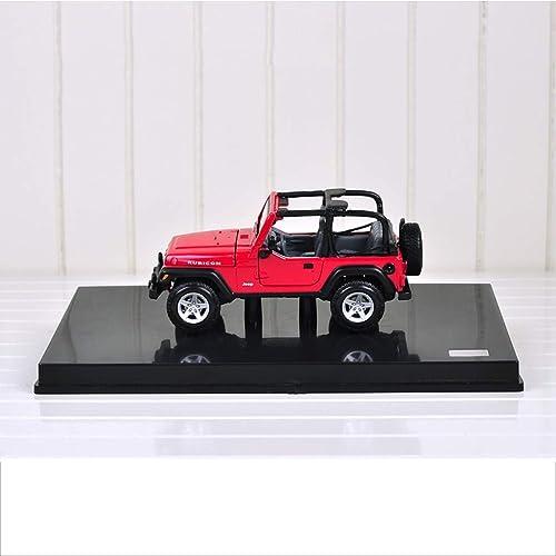 PENGJIE-Model 01 24 Jeep Wrangler Version Quatre Portes du modèle de Voiture en Alliage de Simulation de véhicule Tout-Terrain en métal (Couleur   Orange)