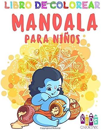 Libro para colorear Mandala para niños pequeños ~ Fácil mandalas: figuras, pájaros, peces