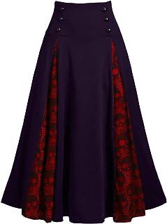 Lazzboy kjol klänning kvinnor solid lapptäcke zombie spets dubbelbröst veckad tunika en linje kostym
