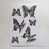 アゲハ蝶(影付き) タトゥーシール