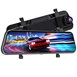 VTIN 2.5K Upgraded Mirror Dash Cam for Cars with Full Touch Screen, Water Resistant Backup Camera Car Rear View Mirror Reversing Camera, Enhanced Night Vision/Emergency Lock/Parking Assistance