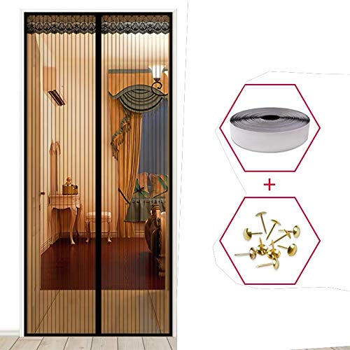 Sommer hochwertige Anti-Mücken-Vorhänge Magnetvorhänge schließen automatisch die Türscheibe Küche Schlafzimmer Vorhang fünf Größen V3 B 120 x H 210 cm