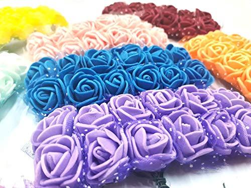 Ramo de rosas de espuma con tallo (96 unidades, 8 colores mezclados)