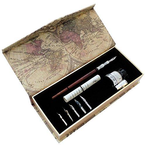 Pluma de madera ARTISOME hecha a mano con tinta y seis puntas PA-18