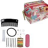 Set de emergencia de unicornio, bolsa de cosméticos de viaje