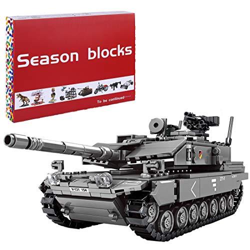 Bybo Technik Panzer, 898 Teile Militär Panzer Bausteine Modell kompatibel mit Lego-Leopard 2A7