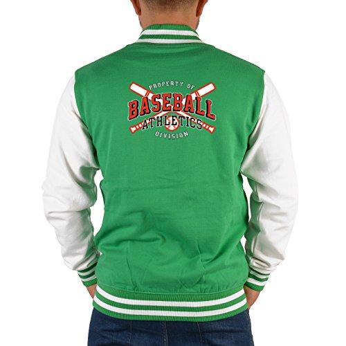 Lässige College Jacke mit Rückenaufdruck! Baseball Athletics Division! EIN Stück USA im Retrostyle