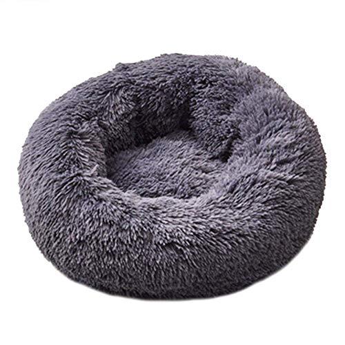 OH Pet Nest Redondo Suave Cama de Perrito Cesta de la Cama de Felpa Cat Kennel Nest Terciopelo Plegable Non-Slip Mat Mat Sofá Calentar/XL
