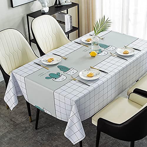 sans_marque Paño de mesa, puede limpiar el mantel de mesa, limpiar la cubierta protectora impermeable de la mesa, se utiliza para la cocina picnic al aire libre interior100 x 160 cm