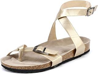 56d2cb90594a8 Suchergebnis auf Amazon.de für: Gold - Sandalen / Damen: Schuhe ...