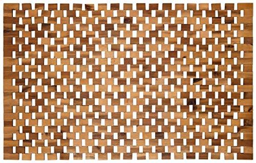 Designer Holzbadematte - Sauna & Wellnessbereich - Badteppich aus 100% Akazienholz