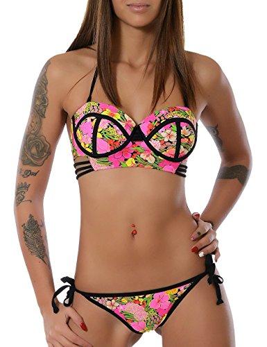Damen Push-Up Bikini-Set No 13771 Pink 36 / S