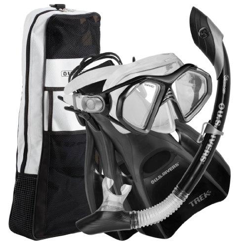 U.S.Divers Admiral Lx/Island Dry Lx/Trek/Travel Bag,Black,Medium (Men (7-10),Women (8.5-11.5))