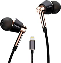 1MORE Triple-driver Headphones In-Ear Hi-Res Audio Earphones with Microphone and Remote Control Lightning Connector for iPhone7 iPhone 8 iPhone X, iPad & iPod - E1001L Gold
