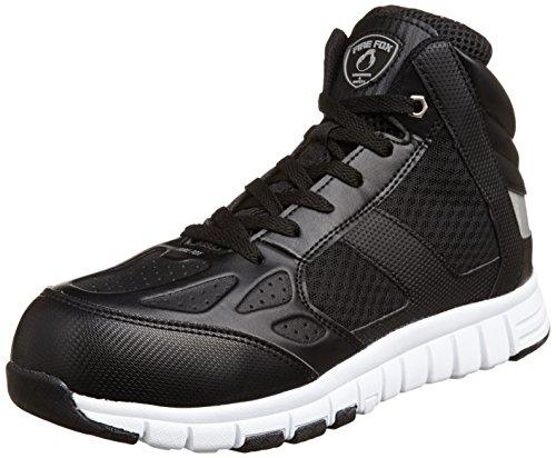 [コーコス信岡] 安全作業靴 先芯入り ハイカットタイプ 屈曲ソール ファイアーフォックス HZ-341 メンズ ブラック 26.0(26cm)