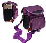 Navitech Purple Portable Binocular Shoulder Bag - Compatible with The PENTAX Papilio II 8, 5 x 21 Binoculars