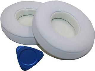 Almohadillas de Repuesto para Auriculares Monster Beats de Dr Dre Solo 2 Solo 2.0 Solo 3 inalámbricos con Suave Piel de proteína Beats solo2/3 Wireless Blanco