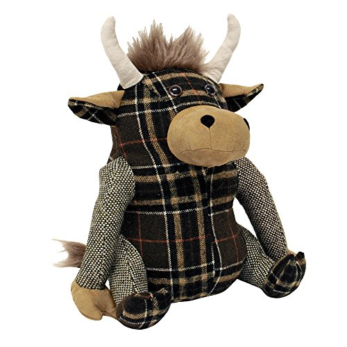 Riva Home Highland Cow Door Stop Multi, Polyester, Braun, One Size