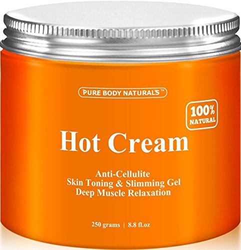 Pure Body Naturals Hot Cream, for Cellulite and Muscle Relaxation, 8.8 Ounce