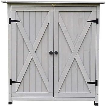 Armario al aire libre 2 puertas de madera al aire libre Herramienta for el jardín Shed