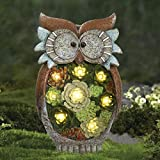 Figura decorativa de caracol solar - Figura con luces solares,...