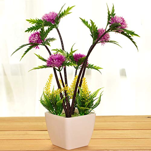 Simulation Plantes en Pot-Yingkesong Plante Verte D'intérieur Petit Bonsaï Bureau Faux Fleur Décoration Décoration De La Maison Ornements,B