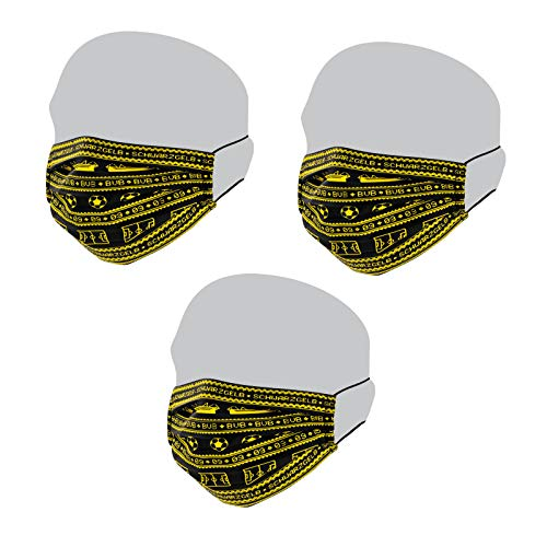 Borussia Dortmund BVB-Maske (3er Pack)