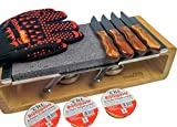Black Rock Grill Sharing Lava Rock Hot Stone Cooking Gift Set, Steak Lovers Gift