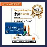 Orange Holiday ヨーロッパ - プリペイドSIMカード ー 【Amazon限定】4G通信 (3 5) GB 30分 SMS 200通 SIMカードホルダー SIM取り出しピン (8GB) 特典適用中