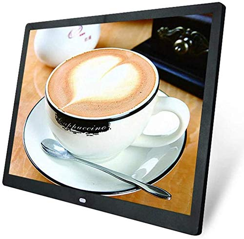 JUNword WiFi Digital Photo Frame 20 Inch LED HD Screen Resolution 1024 768 Electronic Album Picture Music Ultra-Thin Widescreen Full Format,Black Décor Dining Features Home Kitchen