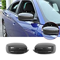Pulidi ダッジ チャージャー 2010+ 適用 アクセサリー ABS バックミラーカバー サイドバックミラーカバー装飾 サイドウィングキャップシェルケース 車 外装パーツ Dodge Charger用