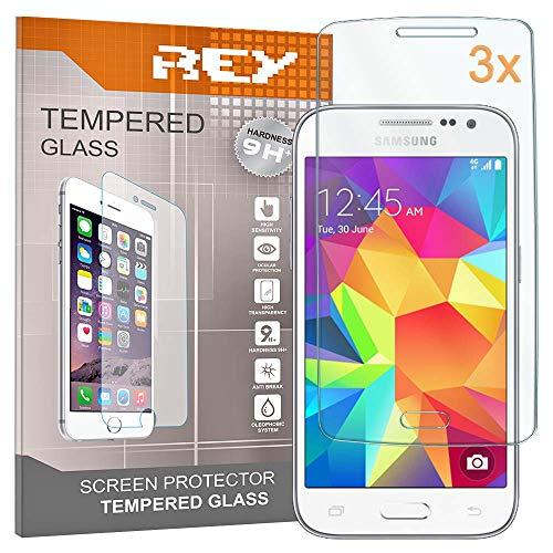 REY 3X Protector de Pantalla para Samsung Galaxy Core Prime G3606, Cristal...