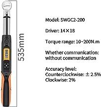 excluida Llave digital unidad Valor de la llave dinamom/étrica digital WTC4-200AN Bater/ía de cabeza de trinquete de anillo abierto