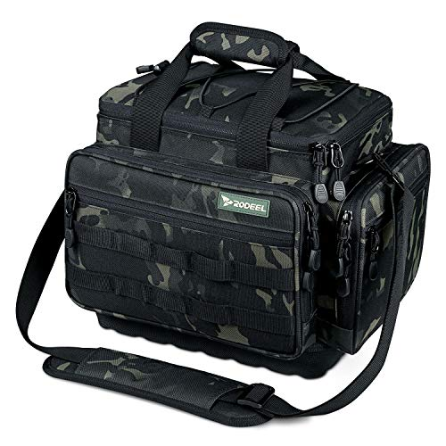 Rodeel Fishing Tackle Bags - Fishing Bags for Saltwater or Freshwater Fishing Without Trays