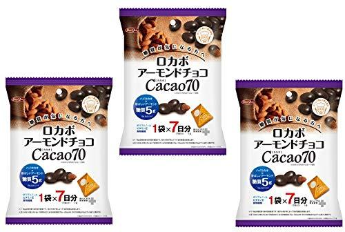 グルメな栄養士セレクト洋菓子 ロカボ アーモンドチョコ カカオ70 126g(18gx7P)×3袋