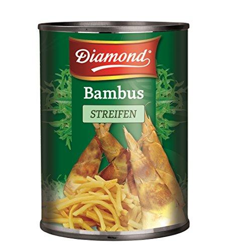 [ 6x 540g / 300g ATG ] DIAMOND Bambussprossen, Streifen / Bambus Streifen