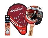 Donic-Schildkröt Set de Tennis de Table Persson 600, 1 Raquette avec Poignée en Liège, 3 Balles 3-Étoiles, 1 Housse, 788487